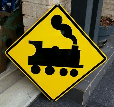 Railway Crossing Enamel Sign (Made To Order) #13#