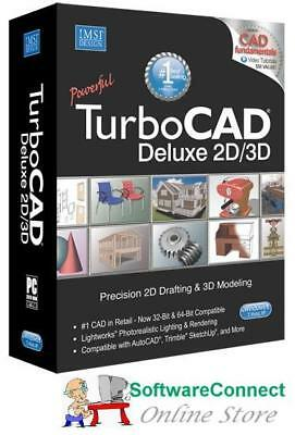 Imsi TurboCAD 21 Deluxe BUNDLE Turbo CAD Includes 2D 3D Training & CAD Symbols