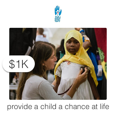 $1000 Charitable Donation For: Travel for a Child to Receive Lifesaving Care