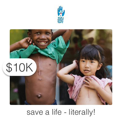 $10000 Charitable Donation For: Provide Lifesaving Cardiac Care to a Child