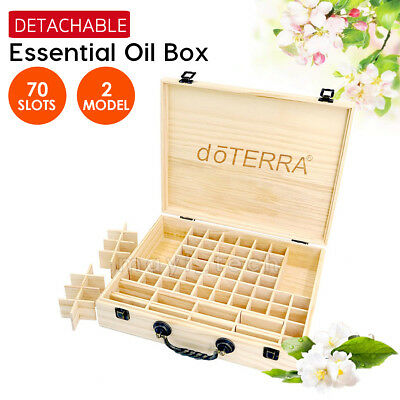 doTERRA 70 Slots Aromatherapy Essential Oil Storage Box Wooden Case Container AU