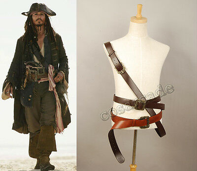 Pirates of The Caribbean Jack Sparrow Cosplay Costume Belt Buckles Prop