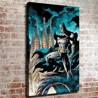 "12""x18""Batman and Building HD Canvas prints Painting Home decor Room Wall art"