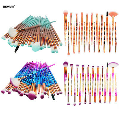 20PCS Unicorn Makeup Brushes Set Foundation Blush Face Powder Eye Shadow Brush K