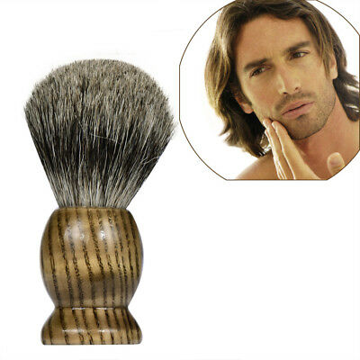 Men Shaving Bear Brush Badger Hair Shave Wood Handle Razor Barber Tool New K9