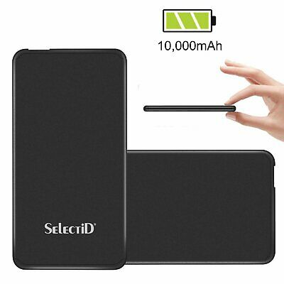 Portable SLIM 10000mAh External Battery Charger Power Bank For iPhone Samsung LG
