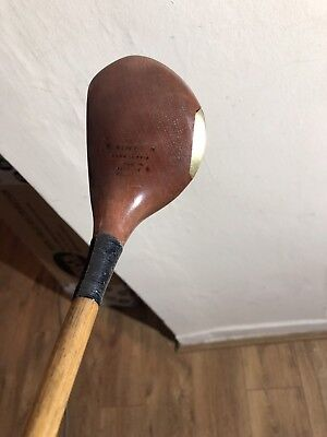 Antique Hickory Robert Simpson Of Carnoustie Perfect Balance Driver Stunning