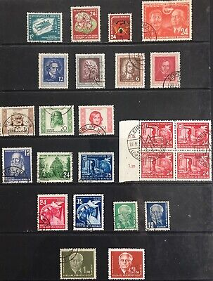 Germany (DDR) 1951-1952 issues MLH & Used