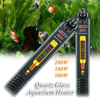 Aquarium Submersible Heater Fish Tank Auto Water Thermostat 200/300/500W AU