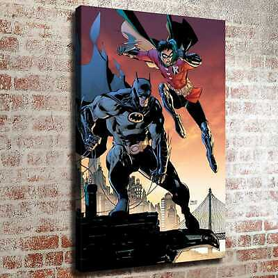 "12""x18""Robin Batman HD Canvas prints Painting Home decor Room Wall art Picture"