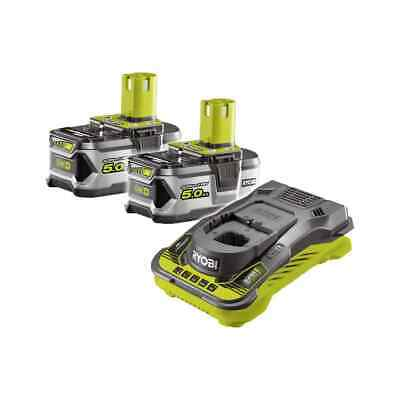Pack 2 batteries RYOBI 18V OnePlus 5.0 Ah LithiumPlus - 1 chargeur ultra rapide