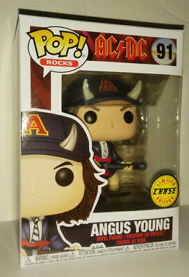 ANGUS YOUNG CHASE VARIANT FUNKO POP! ROCKS with Horns AC/DC Limited Edition #91