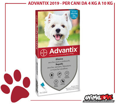 Advantix BAYER  per cani oltre 4 kg -10 kg /4 PIPETTE/ ANTIPARASSITARIO BAYER