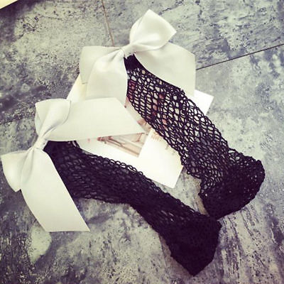 5daa48499537e0 Summer Woman Ruffle Fishnet Ankle High Mesh Lace Fish Net Short Socks with  Bow