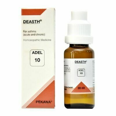 Adel 10 DEASTH Homeopathic Homeopathy Medicine for Acute or Cronic Asthma