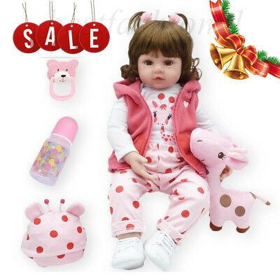 Real Life Like Silicone Reborn Dolls Baby Girl Newborn Toddler Kids Xmas Gifts