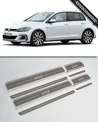 VW Golf Mk7 GTE 4 Door Stainless Sill Protectors / Kick Plates (Released 2014)