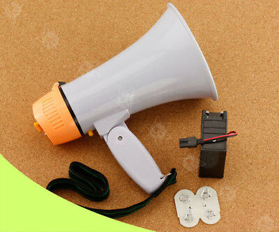 Handheld Megaphone Bull Horn Loud Speaker Portable Volume Music/Record 30W W2