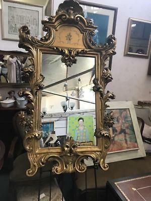French Style Ornately Carved Painted Gilt Framed Mirror  Huge 3 Day Mirror Sale.