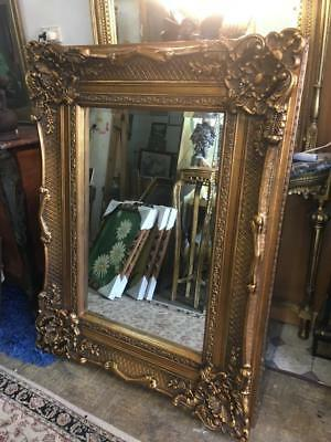 Gold Rococo  Carved French Louis Mirror. Huge 3 Day Mirror Sale..at  Cost