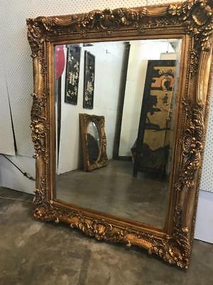 French Louis Ornately Carved Gold Floor Bevelled Mirror.15 X 23Cmhuge 3 Day Sale