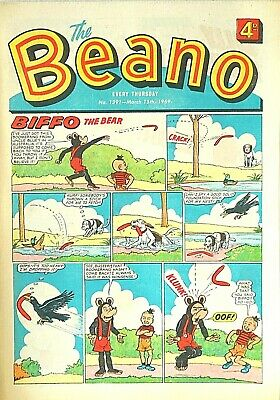 BEANO - 15th MARCH 1969 (13 - 19 March) RARE 50th BIRTHDAY GIFT !! FINE...beezer
