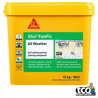 Sika Fastfix All Weather 14kg Self-Setting Paving Jointing Compound Grey / Buff
