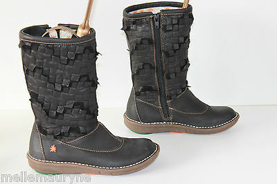 Mid Boots ART Leather and Textile Model Current T 33 VERY GOOD CONDITION