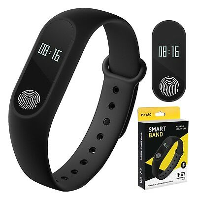 Touch Smartband Activity Fitness Tracker Bluetooth Pedometer Blood Pressure Puls