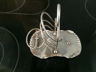 Unusual Antique Silver Plated Letter/Toast Rack