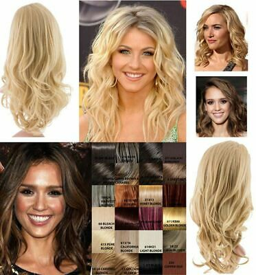 NEW WOMENS HALF HEAD CURLY WAVY SOFT HAIR WIG KOKO UK LILY Party wedding holiday