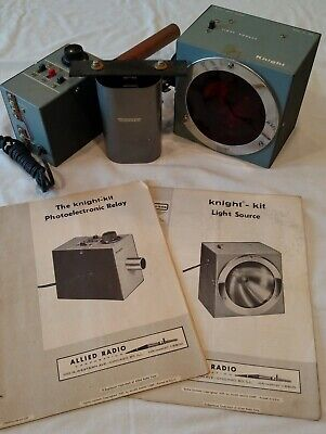 Vintage 3-Piece Knight-Kit Light Source and Photoelectronic Relay - Works