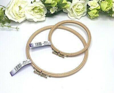 """Wooden Embroidery Hoops - 5"""" or 7"""" - Cross Stitch Ring - Craft Hoops - 13cm 18cm"""
