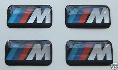 4 x BMW M Sport Performance Alloy Wheel dash board stereo  Stickers Decals Badge