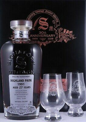 Highland Park 1991 27 Years Sherry Butt Signatory 30th Anniversary Whisky 52,0%