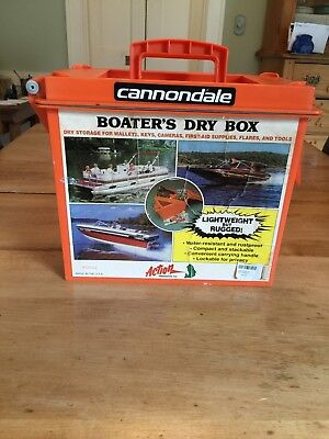 Vintage Cannondale Boater's Dry Box Safety Orange Plastic Construction #56021
