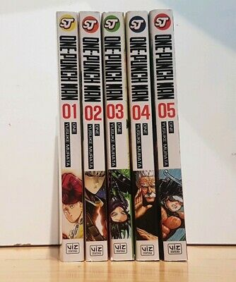 ONE PUNCH MAN 1-5 Manga Collection Complete Set Run Volumes ENGLISH FIRST PRINTS