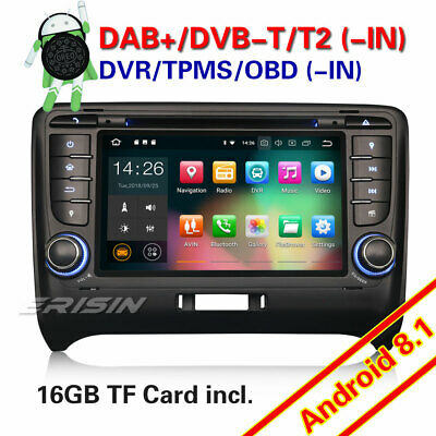 Android 8.1 Autoradio GPS NAVI DVD DAB+ Bluetooth WIFI OBD TNT for AUDI TT MK2