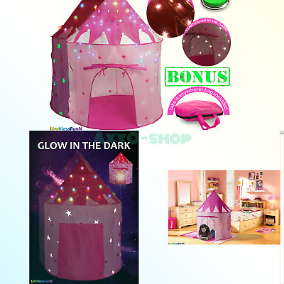 27477d6a4647 Kids Play Tent with Light Princess Castle Children Playhouse Bonus Carrying  C..