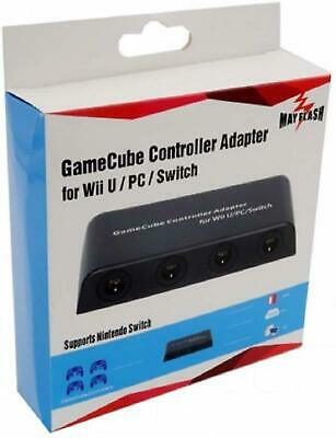 Mayflash GameCube Controller Adapter for Wii  PC USB and Switch 4 Port Wireless