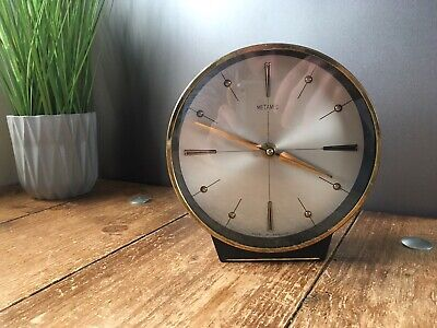 Superb Mid Century Modern Metamec 8 Day Wind Up Clock 60'S 70'S Atomic Sunburst