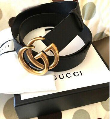 6f92049c7fa BRAND NEW!AUTHENTIC GUCCI-DOUBLE GG Buckle Belt Size 110cm NEW ...