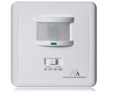 PIR Motion Sound Detector Wall Mounted 160 ° Sensor Switch Detector UK Stock
