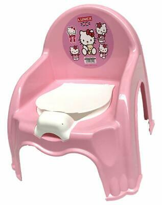 New Pink Easy Clean Kids Toddler Potty Training Chair Seat Removable Potty Lid