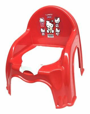New Red Easy Clean Kids Toddler Potty Training Chair Seat Removable Potty Lid