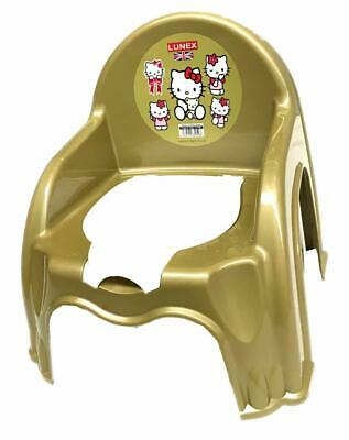 New Gold Easy Clean Kids Toddler Potty Training Chair Seat Removable Potty Lid