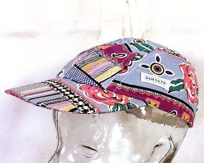 vtg 80s RARE Baby Guess by Georges Marciano Strapback Hat Cap LOUD Hip Hop sz L