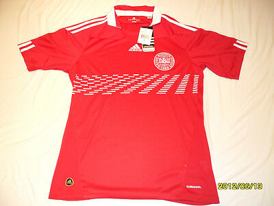 ADIDAS DENMARK 2010 World Cup M Home Soccer Jersey Football Shirt ... fffa665ce