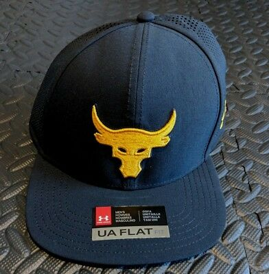 510899923 UNDER ARMOUR THE Rock Supervent Snapback Hat Black Brahma Bull Project Rock  UA