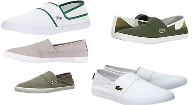 c60ddab28602 Lacoste Marice CAM Canvas Slip On Trainers in Wide Range of Colour Men s  Women s